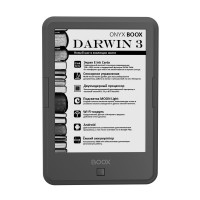 Электронная книга ONYX BOOX DARWIN 3 (темно-серая, Carta, SNOW Field, Android, MOON Light, Wi-Fi, 8 Гб)