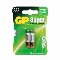 Батарейка GP Super Alkaline 24A-CR2 (LR03 AAA) упаковка 2 шт.